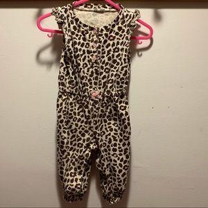 Carters 9m leopard print jumpsuit